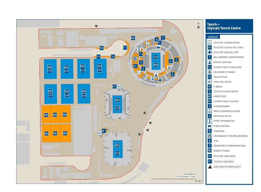 オリンピックテニスセンター地図
