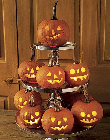 かぼちゃランタン積み上げ